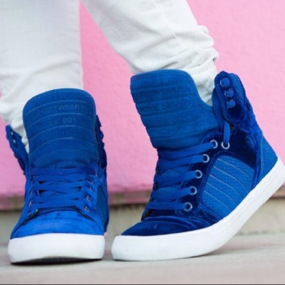 Supra Shoes | Supra Blue Velvet High